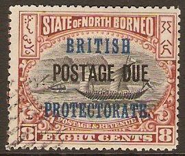 North Borneo 1902 8c Black and brown. SGD43.