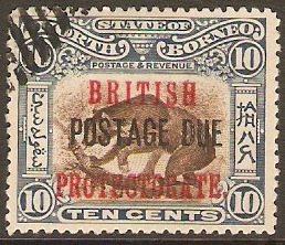 North Borneo 1902 10c Brown and slate-blue. SGD45.