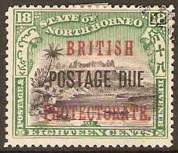 North Borneo 1902 16c Green and chestnut. SGD47.
