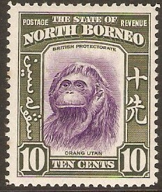 North Borneo 1939 10c Violet and bronze-green. SG309.