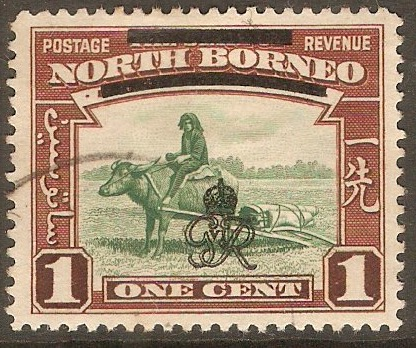 North Borneo 1947 1c Green and red-brown. SG335.