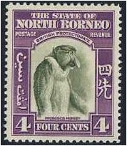 North Borneo 1939 4c. Bronze-Green and Violet. SG306.