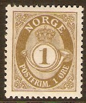 Norway 1909 1ore Olive-drab. SG133.