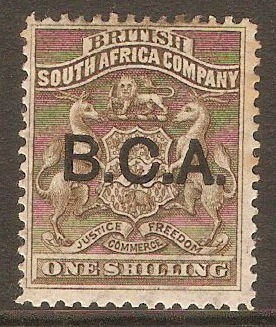 British Central Africa 1891 1s Grey-brown. SG7.