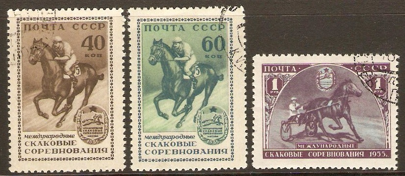 Russia 1956 Int. Horse Racing Set. SG1930-SG1932.