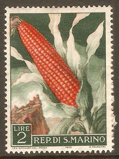 San Marino 1958 2l Fruit and Agriculture. SG553.