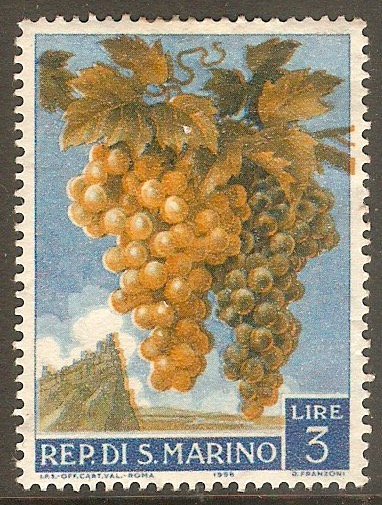 San Marino 1958 3l Fruit and Agriculture. SG554.