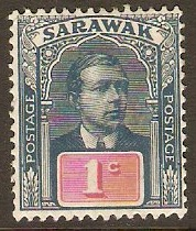 Sarawak 1918 1c Slate-blue and red. SG50.