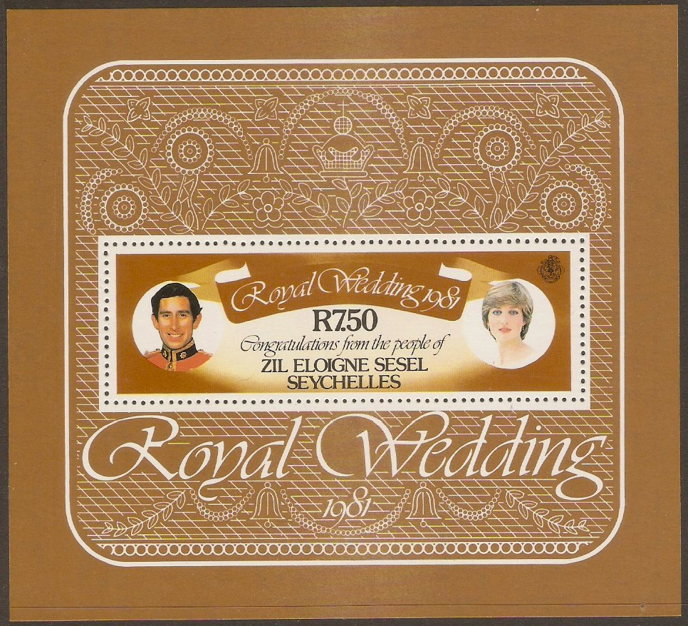 Outer Islands 1981 Royal Wedding sheet. SGMS29.