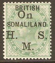 Somaliland Protectorate 1903 ½a Yellow-green Official. SGO1.