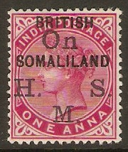 Somaliland Protectorate 1903 1a Carmine - Official. SGO2.