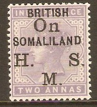 Somaliland Protectorate 1903 2a Pale violet - Official. SGO3.