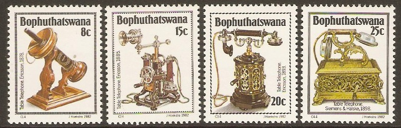 Bophuthatswana 1982 Telephone History (2nd. Series) Set. SG92-SG