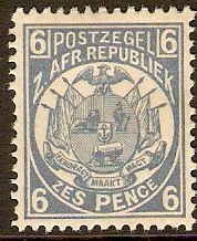 Transvaal 1885 6d Pale dull blue. SG182.