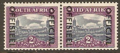 South Africa 1950 2d Blue and violet. SGO45.