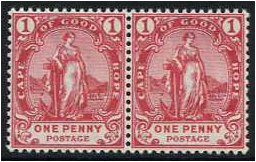 Cape of Good Hope 1893 1d Rose-red. SG59.