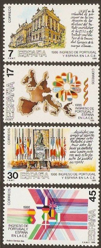 Spain 1985 EEC Admission Set. SG2854-SG2857.