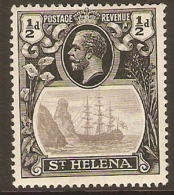 St Helena 1922 ½d Grey and black. SG97.