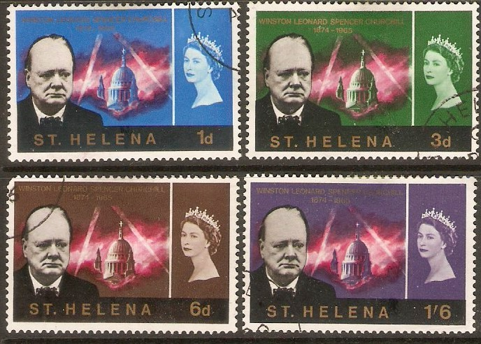 St Helena 1966 Churchill Set. SG201-SG204.