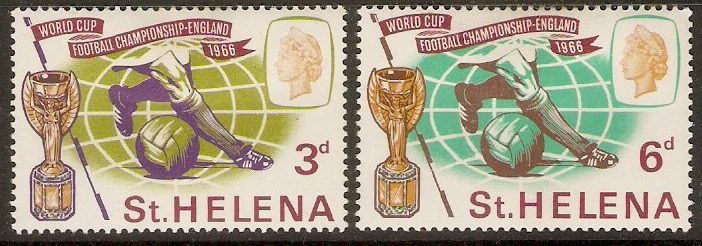 St Helena 1966 World Cup Football Set. SG205-SG206.