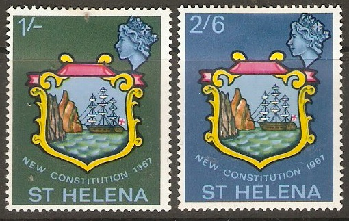St Helena 1967 New Constitution Set. SG212-SG213.
