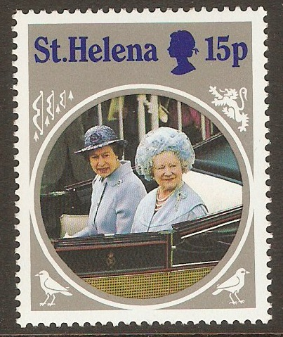 St Helena 1985 15p Queen Mother series. SG455.