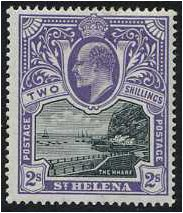 St Helena 1903 2s. Black and Violet. SG60.