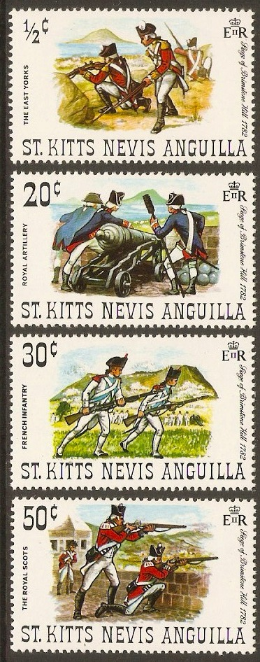 St. Kitts-Nevis 1971 Brimstone Hill Siege Set. SG244-SG247.