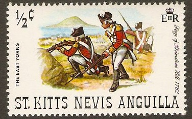St Kitts-Nevis 1971 ½c East Yorks Regiment. SG244.