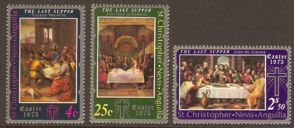 St. Kitts-Nevis 1973 Easter Paintings Set. SG262-SG263.