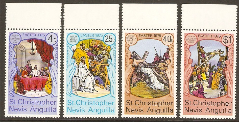 St. Kitts-Nevis 1975 Easter Paintings Set. SG314-SG317.
