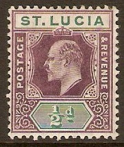 St Lucia 1904 ½d Dull purple and green. SG64.