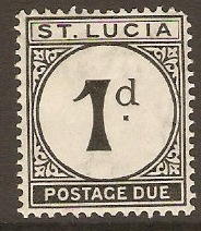 St Lucia 1933 1d Black - Postage Due. SGD3.