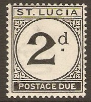 St Lucia 1933 2d Black - Postage Due. SGD4.