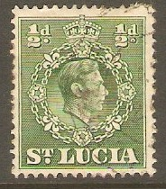 St Lucia 1938 ½d Green. SG128. - Click Image to Close