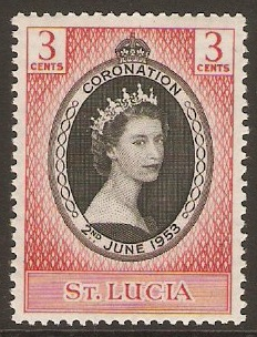 St Lucia 1953 Coronation Stamp. SG171.
