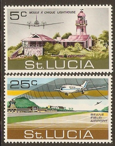 St Lucia 1971 Airport Opening Set. SG309-SG310.