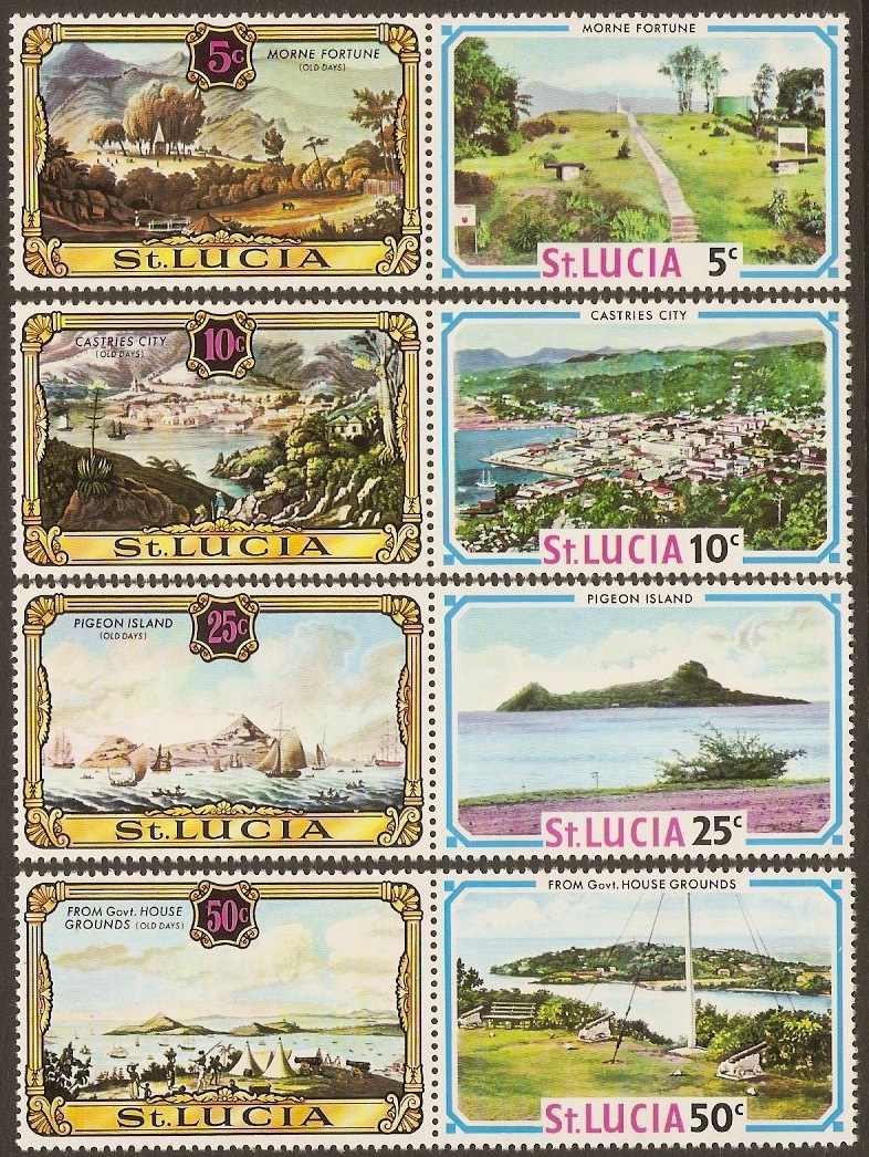 St Lucia 1971 Views Old and New Set. SG311-SG318.