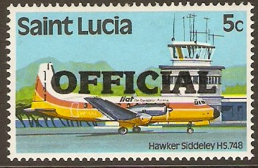 St Lucia 1983 5c Official Stamp. SGO1.
