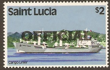 St Lucia 1983 $2 Official Stamp. SGO10.