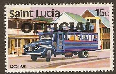 St Lucia 1983 15c Official Stamp. SGO3.