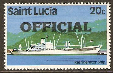 St Lucia 1983 20c Official Stamp. SGO4.