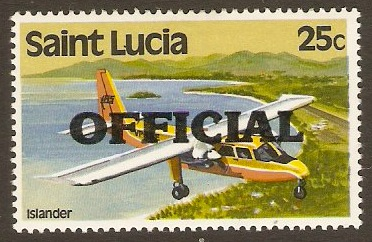 St Lucia 1983 25c Official Stamp. SGO5.