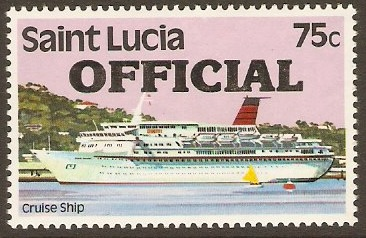 St Lucia 1983 75c Official Stamp. SGO8.