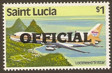 St Lucia 1983 $1 Official Stamp. SGO9.