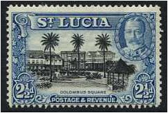St Lucia 1936 2�d. Black and Blue. SG117.