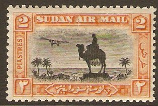 Sudan 1931 2p black and orange. SG53b.