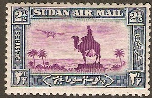 Sudan 1931 2�p Magenta and blue. SG53d.
