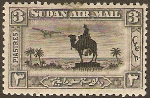 Sudan 1931 3p black and grey. SG54a.