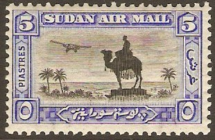Sudan 1931 5p black and ultramarine. SG57a.